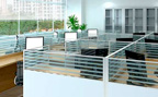 Modern office with cubicles